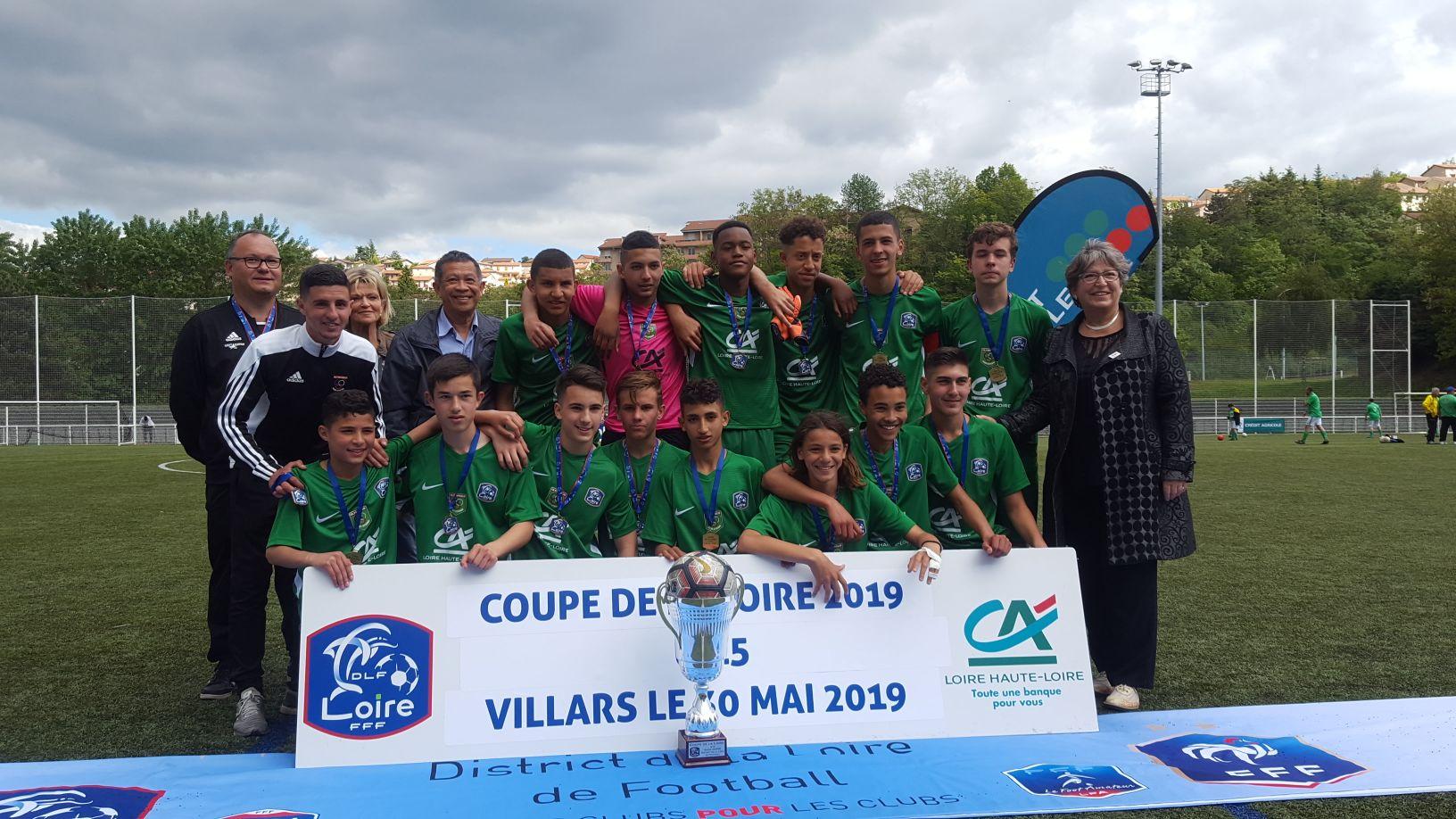 🏆 Les U15 vainqueurs de la Coupe de la Loire 🏆