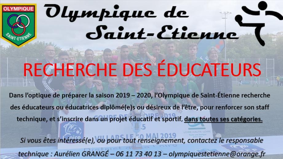 Recherche éducateurs / éducatrices – saison 2019 / 2020